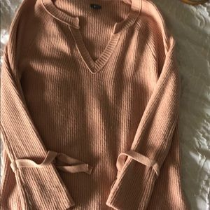 Aerie peachy pink sweater